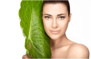 Lady Beside Herb Leaf